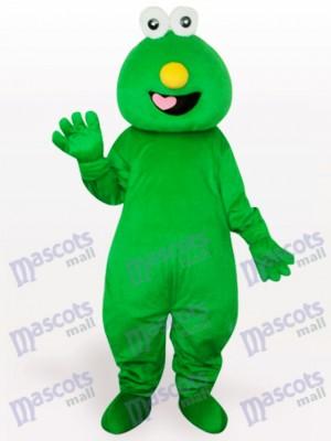 Kurzes Haar Grünes Monster Maskottchen Kostüm für Erwachsene