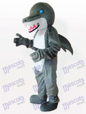 Blue Eyes Shark Maskottchen Kostüm für Erwachsene