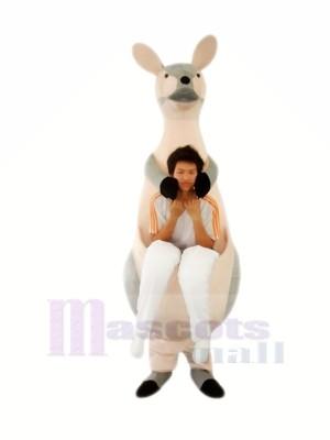 Grau Känguru Mutter Maskottchen Kostüme Erwachsene