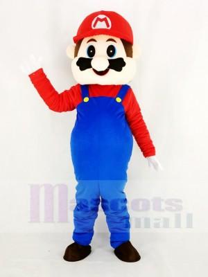 Super Mario Bros im rot Maskottchen Kostüm Karikatur