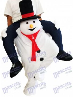 Piggyback Schneemann Carry Me Ride White Schneemann Maskottchen Kostüm chipmunks kostüm huckepack kostüm selber machen