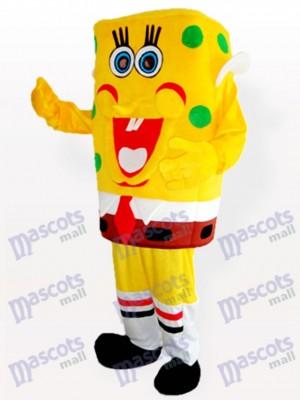 Gelbes Spongebob Junge Maskottchen Kostüm für Erwachsene