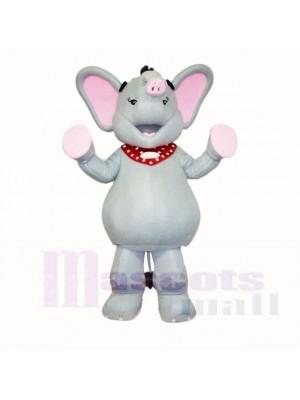 Grau und Rosa Elefant Maskottchen Kostüme Karikatur
