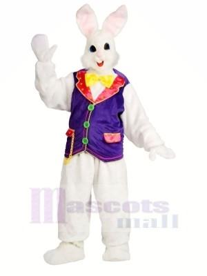 Hase mit lila Weste Maskottchen Kostüme Hase Tier