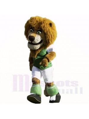 Grün Fußball Löwe Maskottchen Kostüme Karikatur