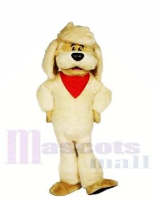 Gelbes Hunde maskottchen-Kostüm-Tier