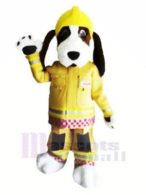 Feuer Brigade Hund mit Gelb Hut Maskottchen Kostüme