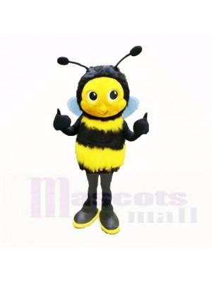 Flauschige Biene mit Groß Augen Maskottchen Kostüme Karikatur