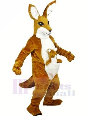 Braun Känguru Erwachsene Maskottchen Kostüme Tier