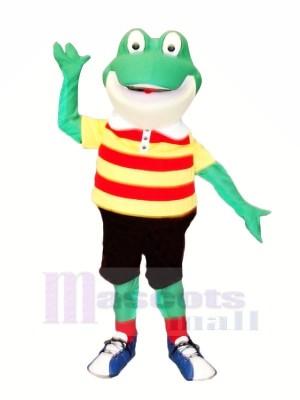 Lächelnd Frosch Maskottchen Kostüme Karikatur