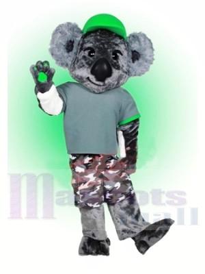 Koala mit Grün Hut Maskottchen Kostüme Tier