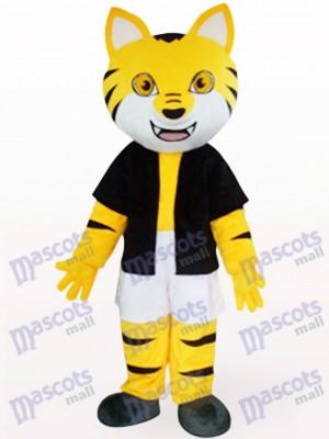Orange Tiger im schwarzen Underwaist Tier Maskottchen Kostüm