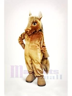 Schön Braun Pferd Maskottchen Kostüme Karikatur