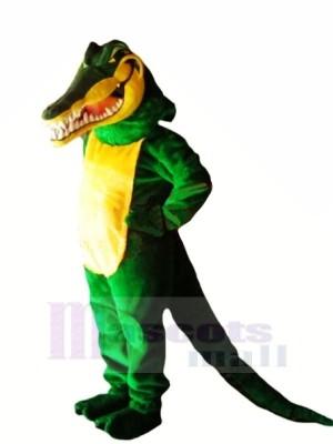 Grün Krokodil mit Lange Schwanz Maskottchen Kostüme