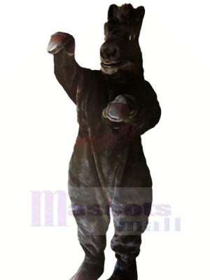 Leistung Schwarz Pferd Maskottchen Kostüme Karikatur