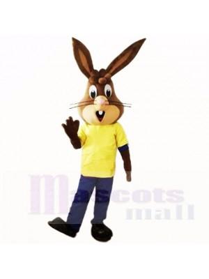 Freundlich Leicht Hase mit Gelb Hemd Maskottchen Kostüme Schule