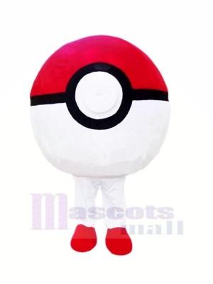 rot und Weiß Sack Ball Maskottchen Kostüme Billig