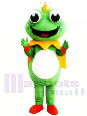 Karikatur König Frosch Maskottchen Kostüme