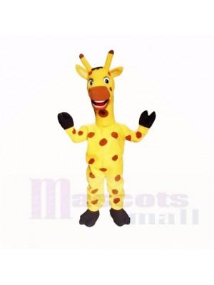 Gelb Freundlich Leicht Giraffe Maskottchen Kostüme Karikatur