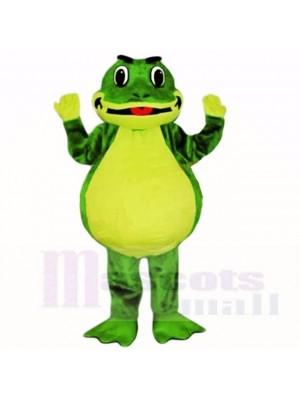 Lächelnd Freundlich Leicht Frosch Maskottchen Kostüme Schule
