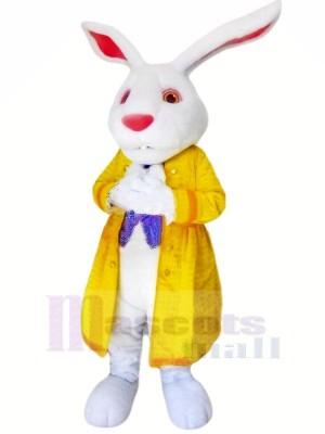 Hase mit Gelb Jacke Maskottchen Kostüme Tier