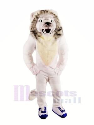 Heftig Weiß Löwe Maskottchen Kostüme Erwachsene