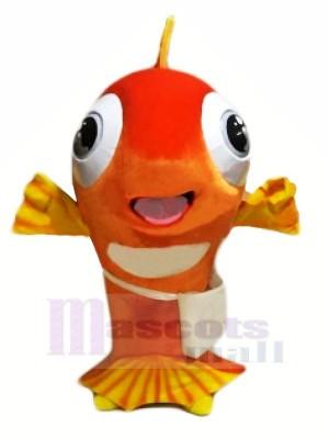 glücklich Fisch Maskottchen Kostüme Karikatur