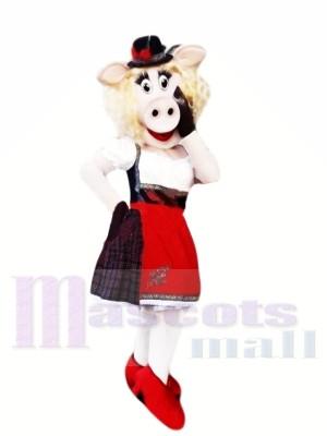 Modisch Schwein Maskottchen Kostüme