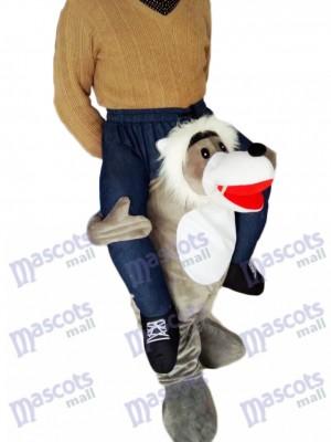 Huckepack Wolf Carry Me Ride Grey Wolf Maskottchen Kostüm chipmunks kostüm huckepack kostüm selber machen