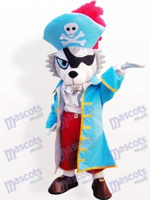 Pirat Wolf Tier Maskottchen Lustiges Kostüm