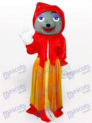 Roter Wolf Adult Anime Maskottchen Kostüm