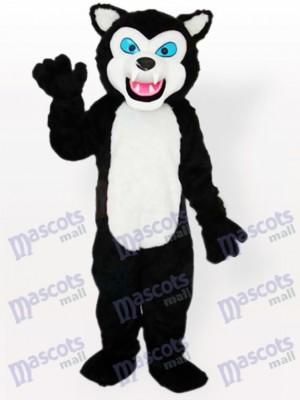 Schwarzer Wolf Erwachsenen Maskottchen kostüm