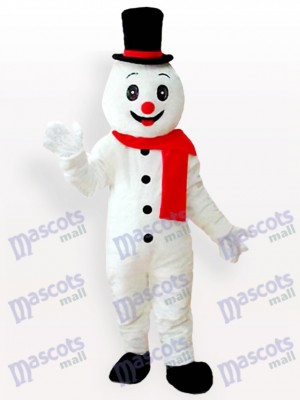 Weihnachten Weihnachten Schneemann mit Hut Maskottchen kostüm