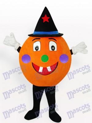 Orange Kürbis Anime Erwachsener Maskottchen kostüm