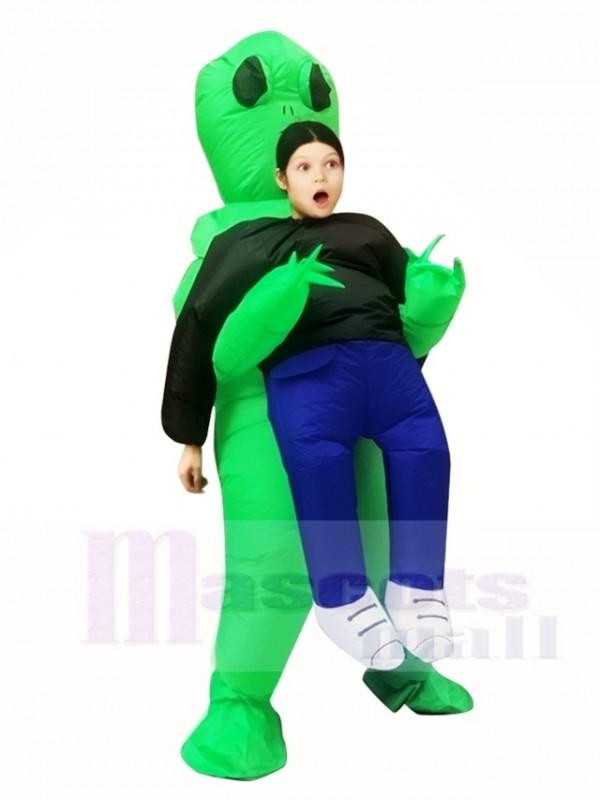 Grün Ausländer ET Trag mich Monster Aufblasbar Sprengen Halloween Weihnachten Kostüme zum Kinder