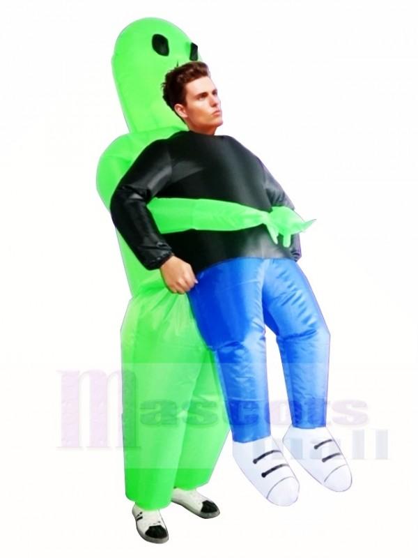 Grün Ausländer ET Tragen mich Monster Aufblasbar Schlag Nach oben Halloween Weihnachten Kostüme zum Erwachsene