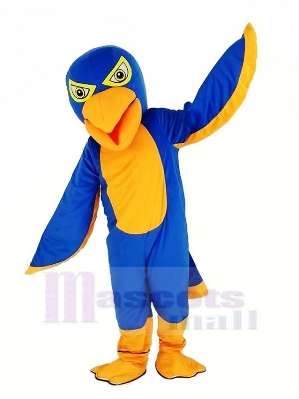 königlich Blau und Orange Falke Maskottchen Kostüm Tier