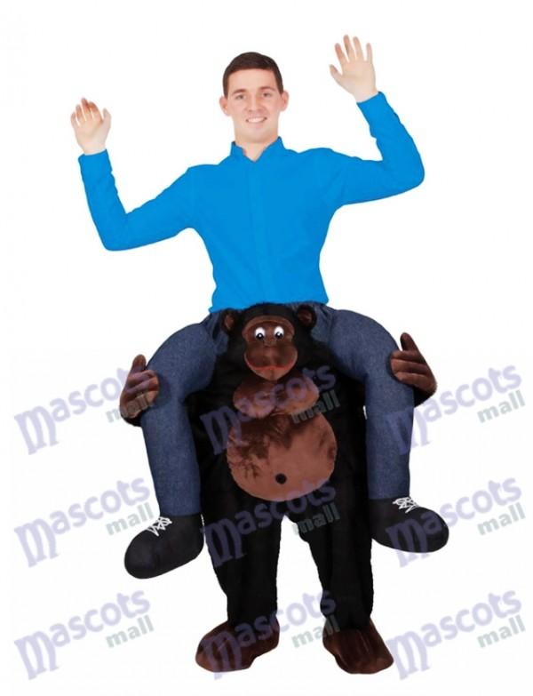 Reiten auf der Schulter Gorilla Carry Me auf Maskottchen Kostüm Piggy Back Ride Outfit