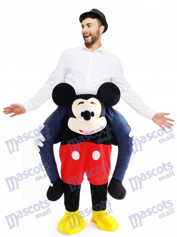 Huckepack Mickey Mouse Carry Me Ride Maus Maskottchen Kostüm