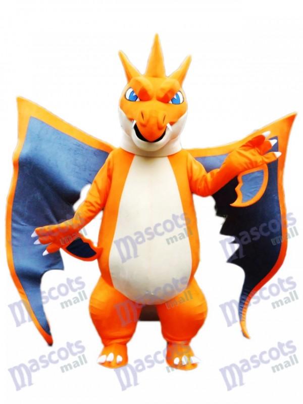 Mega Charizard X Pocket Monster Pokemon Pokémon Feuerdrache Gehen Maskottchen Kostüm