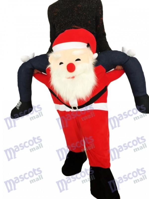Huckepack Weihnachtsmann Carry Me Ride Vater Weihnachten Maskottchen Kostüm