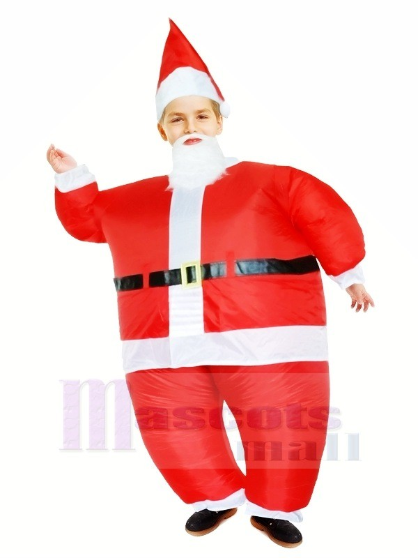 Santa Claus Aufblasbar Halloween Weihnachten Weihnachten Maskottchen Kostüme Karikatur Zum Kinder