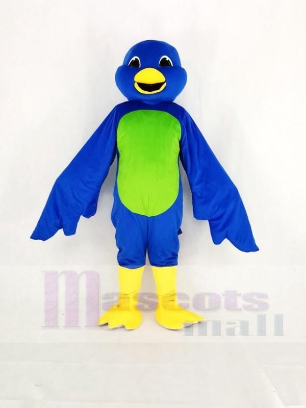 Blau Vogel mit Grün Bauch Maskottchen Kostüm Karikatur