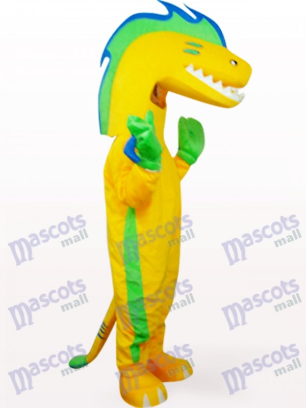 Eel In Yellow Clothes Ocean Mascot Costume
