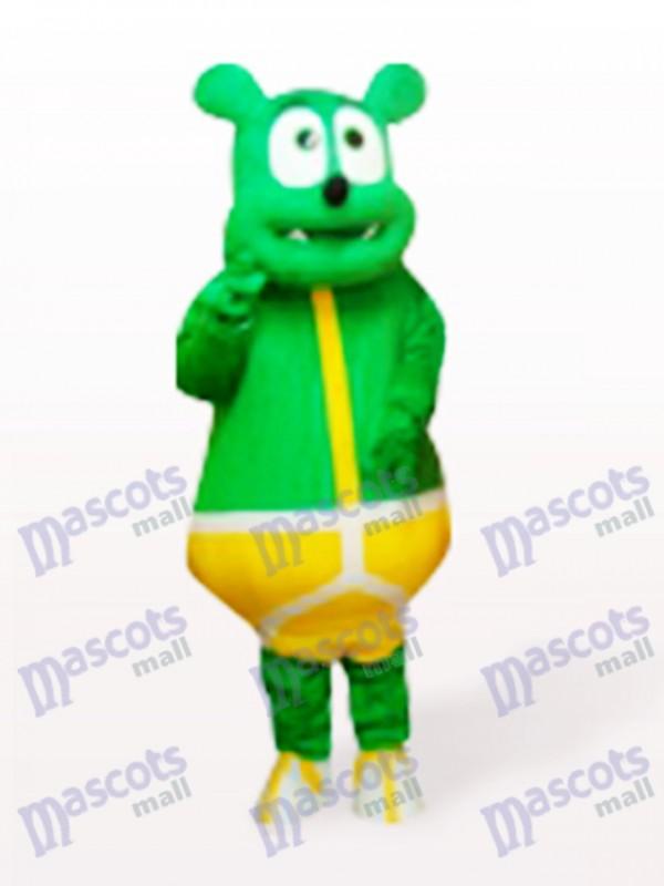 Grünes Bär Monster Cartoon Maskottchen Kostüm
