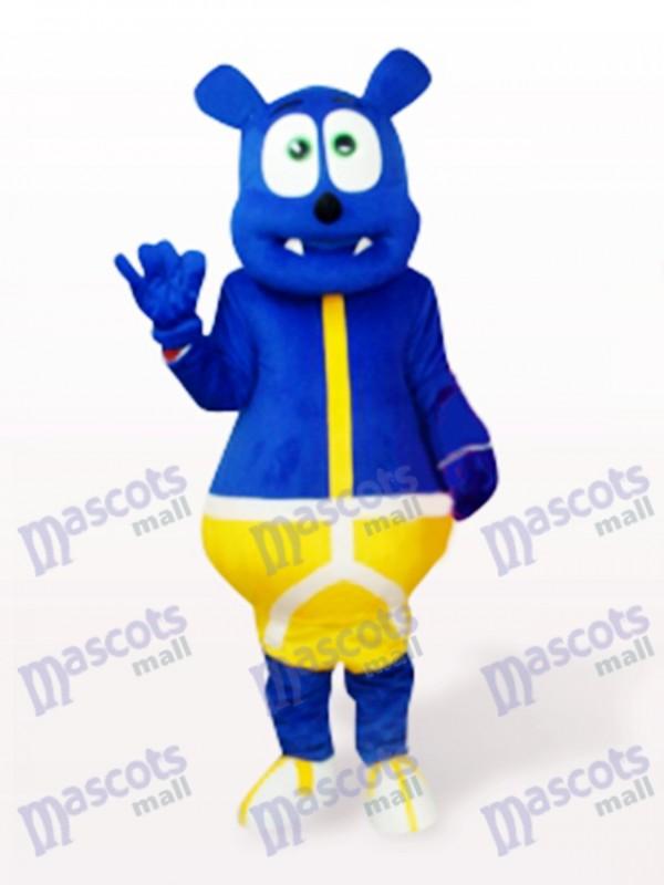 Blauer Bär Monster Cartoon Maskottchen Kostüm