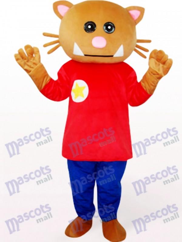 Bär in roter Kleidung Tier Maskottchen Kostüm