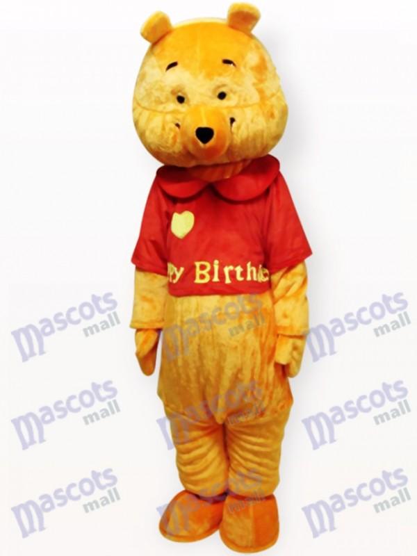 Liebes-Gelber Bär Karikatur-Maskottchen-Kostüm