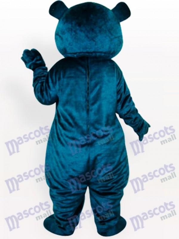 Blauer Bär Erwachsene Tierisches Maskottchen Kostüm