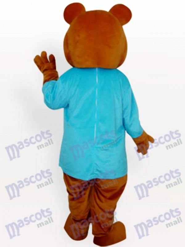 Blauer Bär Tierisches Maskottchen Kostüm
